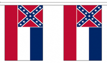 MISSISSIPPI (U.S. STATE) BUNTING - 3 METRES 10 FLAGS